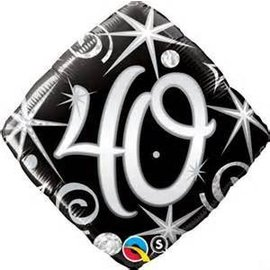 Qualatex 40th Birthday Balloon 18""