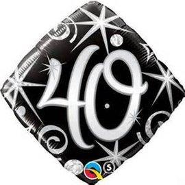 """Qualatex 40th Birthday Balloon 18"""""""