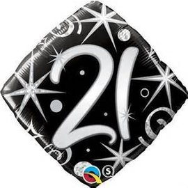 Qualatex 21st Birthday Balloon 18""