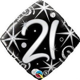 "Qualatex 21st Birthday Balloon 18"""