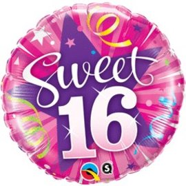 Qualatex Sweet 16 Shining Star Balloon 18""