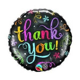 Qualatex Thank You Chalkboard Balloon 18""