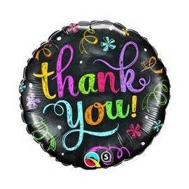 """Qualatex Thank You Chalkboard Balloon 18"""""""