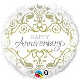 Qualatex Happy Anniversary Balloon 18""