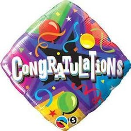 "Qualatex Congratulations Balloon 18"""