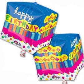 """Anagram Happy Birthday Cake Cubez Balloon 15"""""""