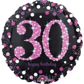 Anagram 30th Birthday Pink Balloon 18""