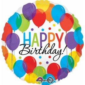 "Anagram Happy Birthday Bash Balloon 17"""