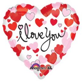Anagram I Love You Heart Balloon 17""