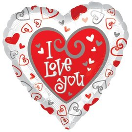 Anagram I Love You Heart 2-Sided Balloon 17""