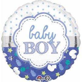 "Anagram Baby Boy Balloon 17"""