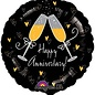 Anagram Happy Anniversary Champagne Balloon 18""