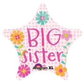 "Anagram Big Sister Star Balloon 19"""