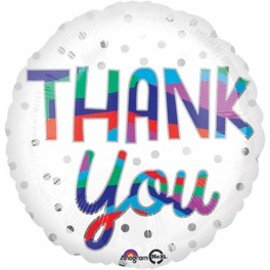 Anagram Thank You Silver Balloon 18""