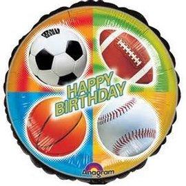 "Anagram Happy Birthday Sports Balloon 17"""