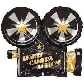 Betallic Inc. Lights Camera Action Balloon 32""