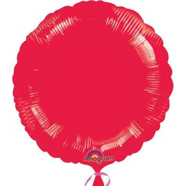 Anagram Metallic Red Round Foil Balloon 18""