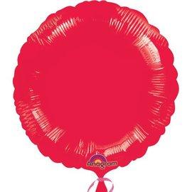 """Anagram Metallic Red Round Foil Balloon 18"""""""