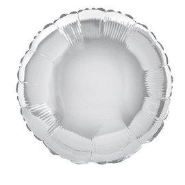 """Anagram Metallic Silver Round Foil Balloon 18"""""""