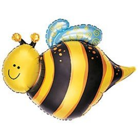 "Anagram Bumble Bee Super Shape Foil Balloon 30"" x24"""