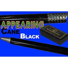 China Magic Appearing Cane, Metal - Black w/Recoil Stopper