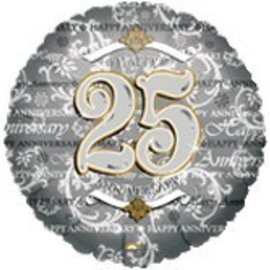 Anagram Happy 25th Anniversary Balloon 18""