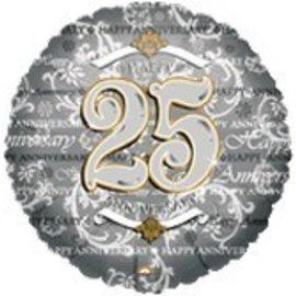 "Anagram Happy 25th Anniversary Balloon 18"""