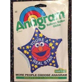 "Anagram You're a Real Star Elmo Balloon 18"""