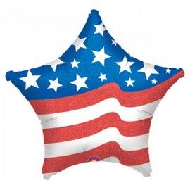 "Anagram American Flag Star Balloon 19"""