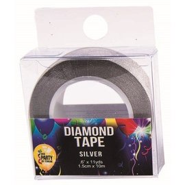 SKD Party by Forum Diamond Tape, Silver - 33 feet