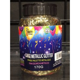 SKD Party by Forum Large Metallic Glitter, Gold - Crumb Jar (/238)