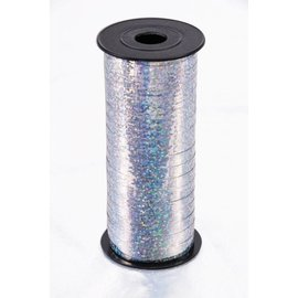 SKD Party by Forum Curling Ribbon, Silver - Holographic 100 feet (/238)