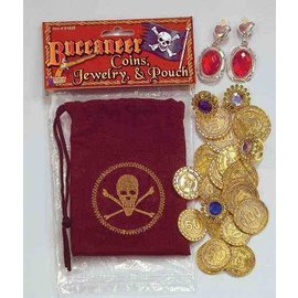 Forum Novelties Buccaneer Coins, Jewelry And Pouch