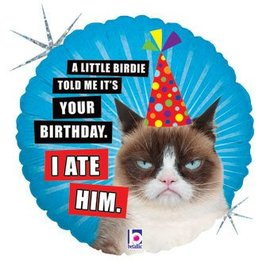 Betallic Inc. Grumpy Cat Birthday Balloon