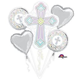 Anagram Blessed Cross Balloon Bouquet