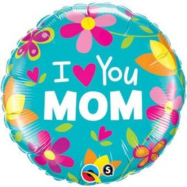 Qualatex I Heart You Mom Balloon