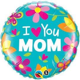 Qualatex I Heart You Mom Balloon