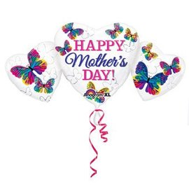 Anagram Happy Mother's Day Heart Trio Balloon