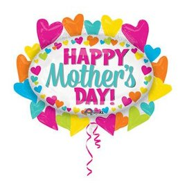 Anagram Happy Mother's Day Hearts Marquee Balloon