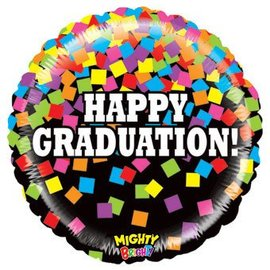 "Betallic Inc. Happy Graduation Confetti Balloon 21"""