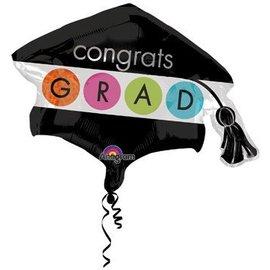 Anagram Congrats Grad Cap Balloon