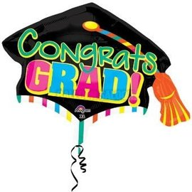Anagram Congrats Grad Cap Colorblast Balloon