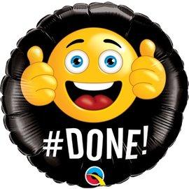 "Qualatex #DONE Emoji Balloon 18"""