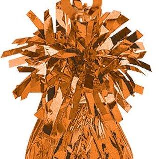 Balloon Weight, Orange - Foil 150 gram (5.29 oz.)
