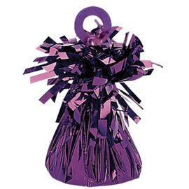 Balloon Weight, Purple - Foil 150 gram (5.29 oz.)