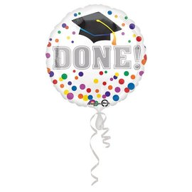 Anagram DONE! Grad Cap Balloon