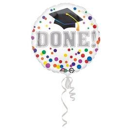 Anagram DONE! Grad Cap Balloon