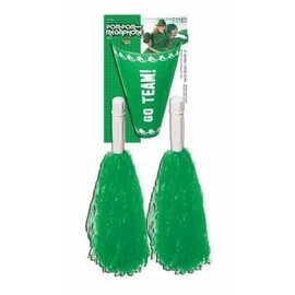 Forum Novelties Cheer Leader Pom Pom/Megaphone Green