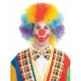 Forum Novelties Deluxe Colorful Clown Afro, Multi Color Wig