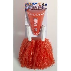Forum Novelties Cheer Leader Pom Pom/Megaphone Red